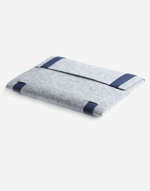Laptoptasche aus Designer Filz, 13.3 Zoll - Grau