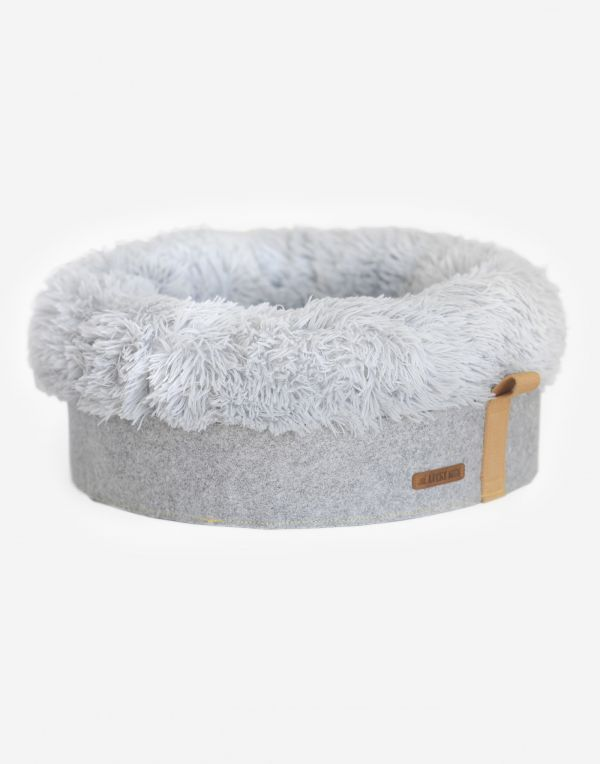 Hundebett flauschig 50x50 - Grau