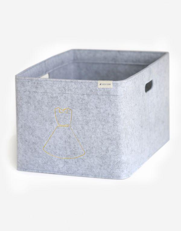 Aufbewahrungsbox mit Kennzeichen, 48x31x25cm -Rock