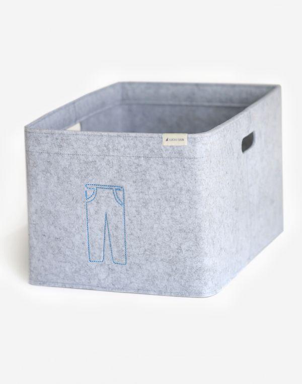 Aufbewahrungsbox mit Kennzeichen, 48x31x25cm - Hose