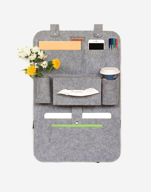 Autositz Organizer mit Multitasche | Grau